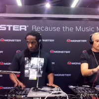 Mr.  Choc and Dj Hapa at the Monster Cable booth