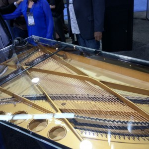 clear top piano